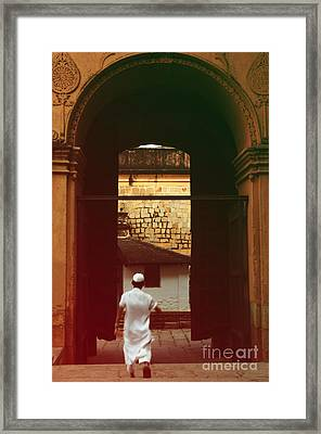 Framed Print featuring the photograph Call To Prayer by Mini Arora