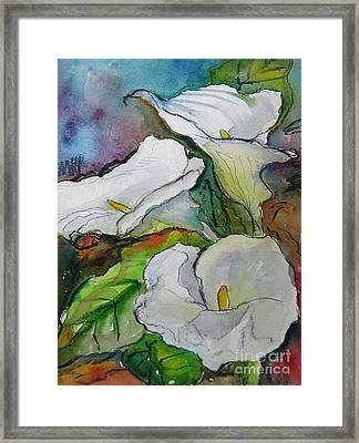 Calla Lilies Framed Print by Gwen Nichols