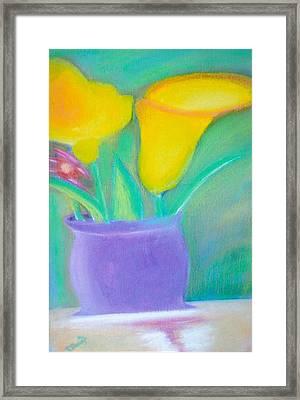 Calla Lilies Supreme Framed Print