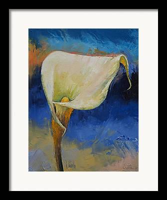 White Calla Lilly Framed Prints