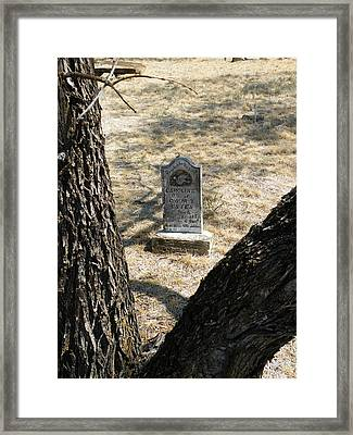 Callahan City Texas Cemetery Gone To A Better Land Framed Print by The GYPSY And DEBBIE