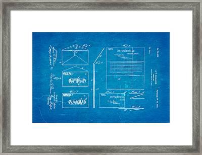 Callahan Window Envelope Patent Art 1902 Blueprint Framed Print by Ian Monk