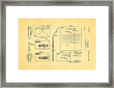 Callahan Window Envelope Patent Art 1902 Framed Print by Ian Monk