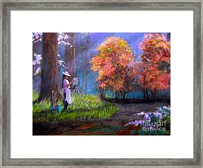 Callaway Garden Artist Framed Print by Gretchen Allen
