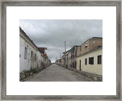 Framed Print featuring the photograph Calle Cubana by Aurora Levins Morales