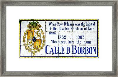 Calle D Borbon Framed Print by David Morefield