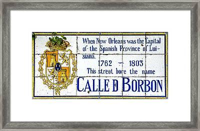 Calle D Borbon Framed Print