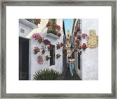 Calle De Las Flores Cordoba Framed Print by MGL Meiklejohn Graphics Licensing