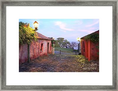 Framed Print featuring the photograph Calle De Los Suspiros by Bernardo Galmarini