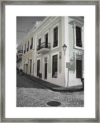 Calle De Luna Y Calle Del Cristo Framed Print by Daniel Sheldon