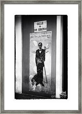 Calle De San Sebastian Framed Print by John Rizzuto
