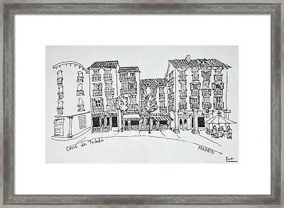 Calle De Toledo Shopping Street Framed Print