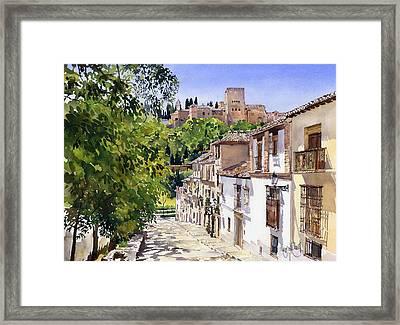 Calle Victoria Granada Framed Print