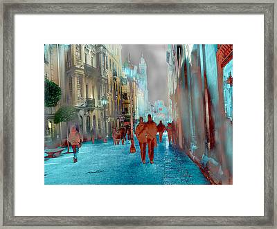 Calle Zamora De Salamanca Framed Print by Alfonso Garcia