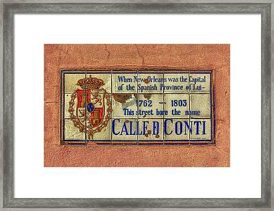 Called Conti Framed Print by Sennie Pierson