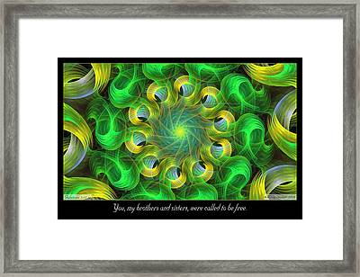 Called To Be Free Framed Print