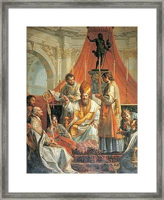 Calliani Gaetano, Sermon Of St Framed Print by Everett