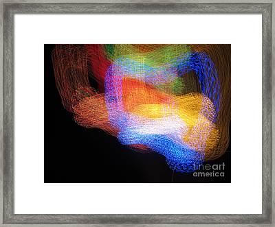 Calligraphic Light Framed Print