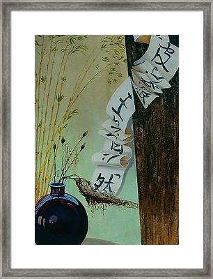 Calligraphy Framed Print by Vrindavan Das