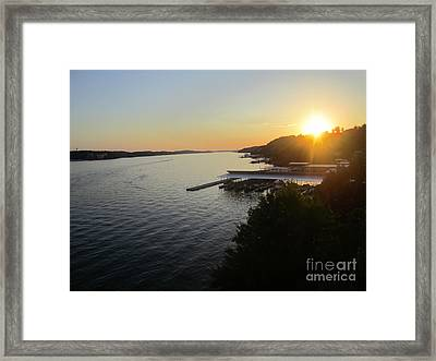 Calling It A Day Framed Print by Fiona Kennard