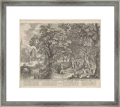 Calling Of Zacchaeus, Anonymous, Nicolaes Visscher II Framed Print by Nicolaes Visscher (ii)
