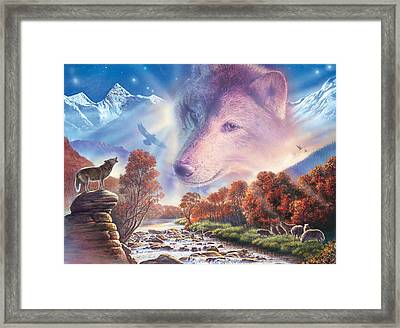 Calling To The Pack Framed Print