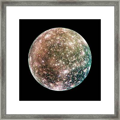 Callisto Framed Print by Nasa/jpl/dlr