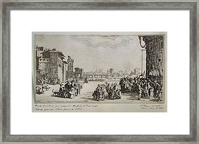 Callot, Jacques 1592-1635 Callot Framed Print by Everett