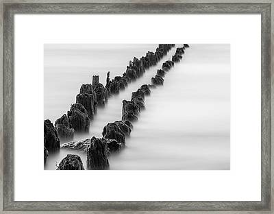 Calm Across The River Framed Print