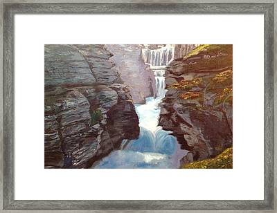 Framed Print featuring the painting Calm Amidst Turbulence by Belinda Low