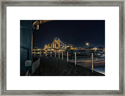 Calm And Cold Framed Print