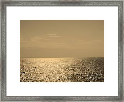 Calm Arabian Sea Framed Print