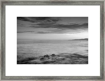 Calm At The Sea Framed Print