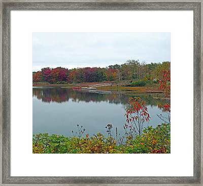 Calm Autumn Reflections Framed Print