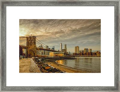 Calm Before The Snow Framed Print