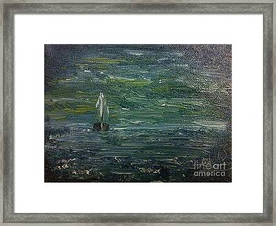 Calm Before The Storm Framed Print by Isabella F Abbie Shores FRSA