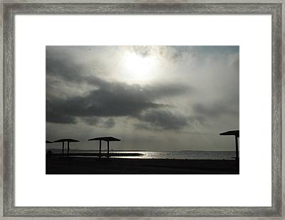 Calm Before The Storm Framed Print by Michael Davis