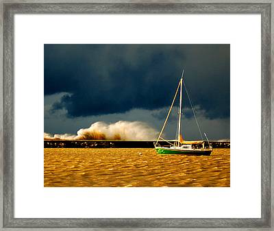 Calm Before The Storm Framed Print by Nicole Dietz