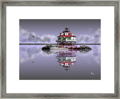 Calm Before The Storm Framed Print by Patrick Belote