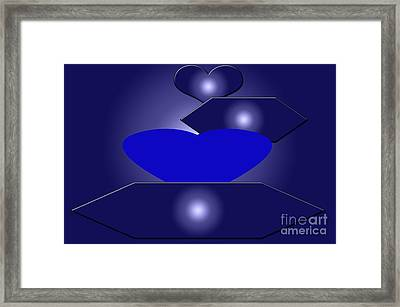 Calm Blue Six Framed Print by Tina M Wenger