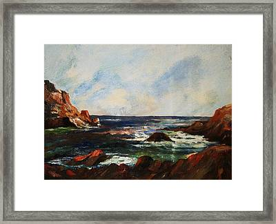 Framed Print featuring the painting Calm Cove by Al Brown