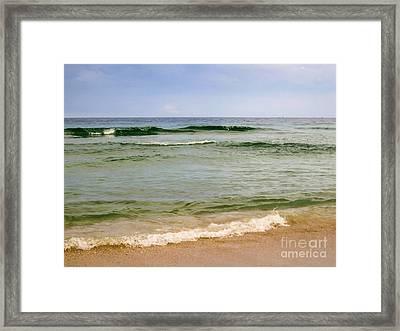 Calm Day At The Seashore Framed Print