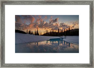 Calm Evening Contemplation Framed Print by Mike Reid