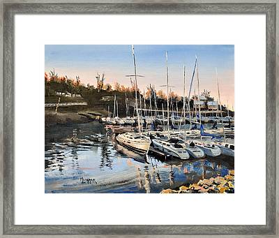 Calm Harbor Framed Print by Spencer Meagher