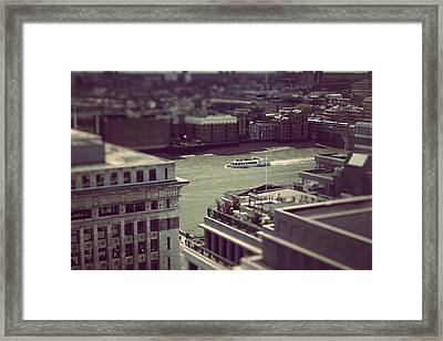 Calm In The City Framed Print