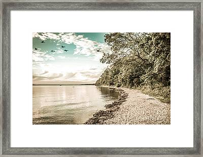 Calm Lake - Future Framed Print by Hannes Cmarits