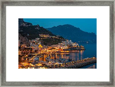 Calm Night Over Amalfi Coast Framed Print