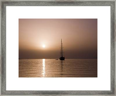 Calm Sea And Quiet Voyage Framed Print