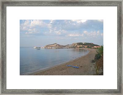 Framed Print featuring the photograph Calm Sea by George Katechis