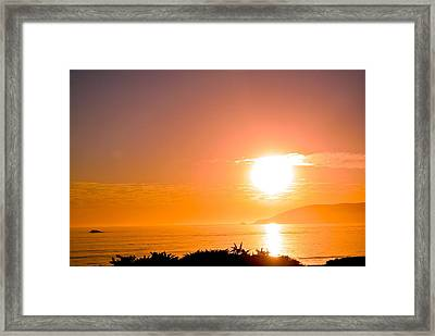 Framed Print featuring the photograph Calm Sea by Tamara Bettencourt